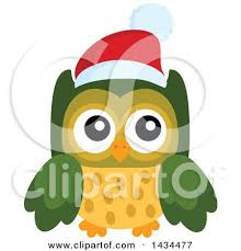 clipart of a christmas santa hat on a speech bubble 2 royalty