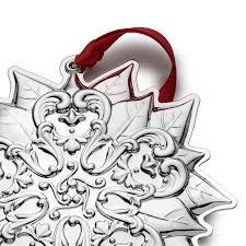 gorham chantilly 2017 poinsettia gorham silver ornament