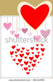 Design For Valentines Card Red Valentines Day Hearts Arrows Stock Vector 565617070 Shutterstock