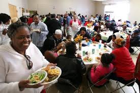 crowd turns out for pre thanksgiving feast at richmond church