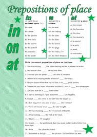 20 free esl prepositions of place worksheets for upper
