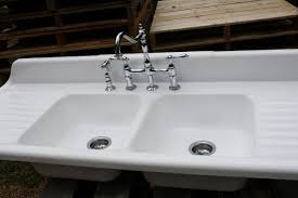 1940 cast iron farmhouse sink 66 x 24 double basin u0026 double