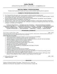 Ats Friendly Resume Template Sample Resume For Recruiter Position U2013 Topshoppingnetwork Com