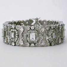 bridal bracelet images Cz bridal jewelry by jascott cz vintage bridal bracelet jpg