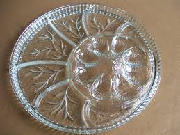glass deviled egg plate vintage indiana glass deviled egg plate relish tray serving platter