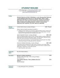 nursing student resume with no experience resume for cashier no experience resume sle