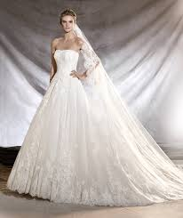 Princess Style Wedding Dresses Tulle And Lace Princess Style Bridal Dress Pronovias Oribe Pattern
