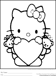 kitty black white clip art 62