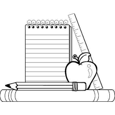 coloring page school compele school supplies for going back to school coloring page
