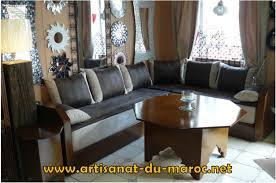pouf marocain cuir salon marocain cuir tissu le canapé marocain du traditionnel au