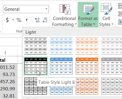 Change Table Style In Excel Creating An Excel Table