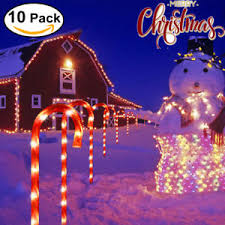 Christmas Decorations Outdoor Candy Canes by 10pcs Candy Cane Pathway Lights Driveway Markers Christmas Outdoor