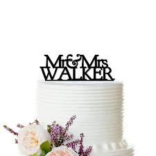 personalized cake topper fancy mr mrs wedding cake topper personalized last name