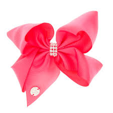 pink hair bow jojo siwa small rhinestone keeper hot pink hair bow s