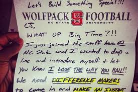 what a recruiting letter looks like and what it should say