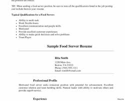restaurant server resume sle server resume luxury template bined functional sles