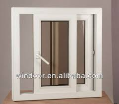 pvc sliding basement window with insect mesh track windows with