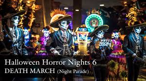 halloween horror nights 2016 packages death march parade halloween horror nights 6 uss hhn6 2016 youtube