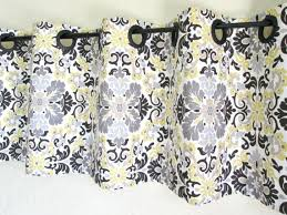 Yellow Kitchen Curtains Valances Decorating Winsome Yellow And Gray Kitchen Curtains Decorating