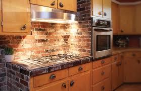 Best Brick Veneer Backsplash Gallery Home Decorating Ideas - Backsplash brick