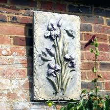 garden wall plaques statues and ornaments wooden wall art panels