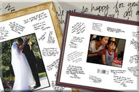 personalized wedding autograph frame special occasion frames church hill classics