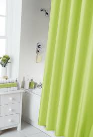 Bright Green Shower Curtain Vibrant Lime Green Shower Curtain 180cm X 180cm Includes Rings