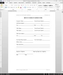 change of address request template form bnk107 2 masir