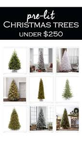 the best artificial christmas trees on a budget 2017 prelit