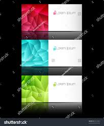 Business Templates For Pages Vector Templates Business Cards Advertising Message Stock Vector