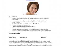 Sample Resume For Nanny Position by Nanny Resume Sample Templates Nanny Job Description Uk Sample