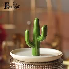 classic cactus ring holder images 2018 retro cactus jewelry box creative ceramic ring organizer jpg