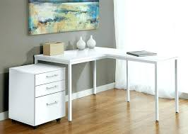 L Shaped Desk Modern White L Shaped Desk Home Office Modern Shape With Frosted Glass