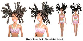 straight hair with outfits natural hair dolls