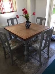 extendable dining table with four chairs shabby chic farrow