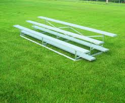 standard aluminum portable outdoor bleachers bison inc