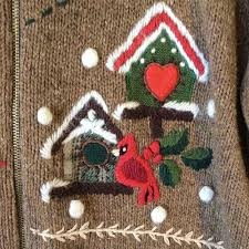 cardinals and birdhouses ice skates and snowmen ugly christmas