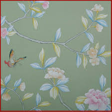 Hand Painted Wallpaper by Classic Birds U0026 Flowers Oriental Style Hand Painted Wallpaper In