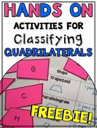 free hands on activities for classifying quadrilaterals test prep