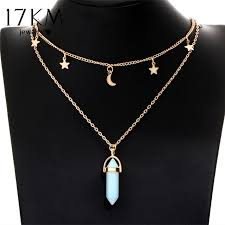 tattoo necklace jewelry images Big stone moon star pendant tattoo choker necklace for women jpg