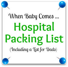 Baby Shower Needs List - c section hospital bag packing list hospital bag organizing and