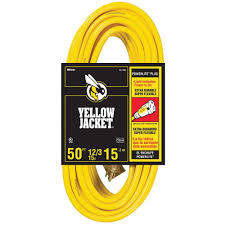yellow jacket 50 ft 12 3 sjtw outdoor heavy duty extension cord