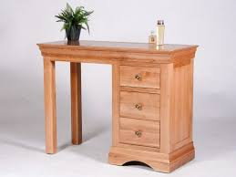 Oak Vanity Table With Drawers Bedroom Mesmerizing Utah Oak Dressing Table Single Ped With 4