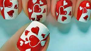 valentine u0027s day heart nail art tutorial valentine u0027s day nails