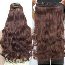 weave extensions copper brown curly hair extensions synthetic weave 5 clip in