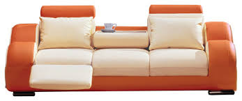 burnt orange leather sofas houzz