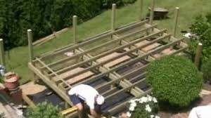 how to build a deck part 05 sub frame cont video dailymotion