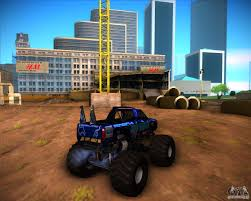 blue thunder monster truck videos monster truck blue thunder para gta san andreas