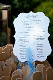 fan shaped wedding programs die cut wedding fan wedding program fan rustic wedding program