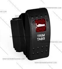 trim tabs rocker switch carling contura ii illuminated accessory